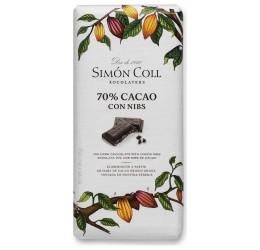 Chocolate 70% Cacao con Nibs Simón Coll