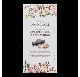 Chocolate 70% Cacao con Almendras Simón Coll