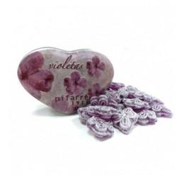 Violetas Plaza de Cibeles 80gr. en lata de corazón