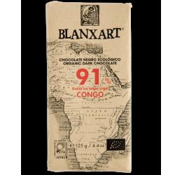 Chocolate Ecológico Congo 91% Blanxart